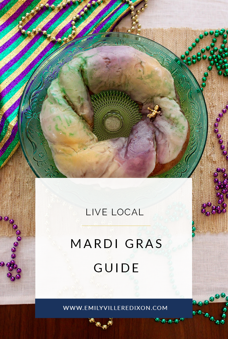 Traditional Mardi Gras essentials Guide featured by top Louisiana blogger, Emily Villere Dixon