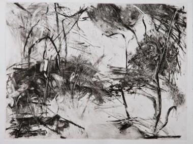 """No. 5, Monotype on Stonehenge, 22"""" x 30"""", 2010"""