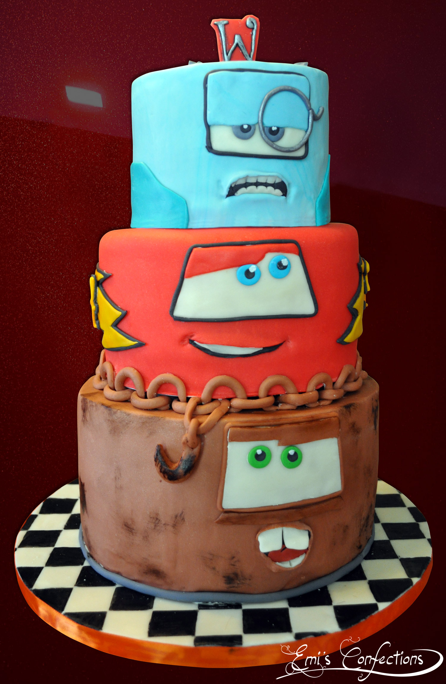 car guy wedding cake cars 2 cake with tow mater lightning mcqueen and 12387