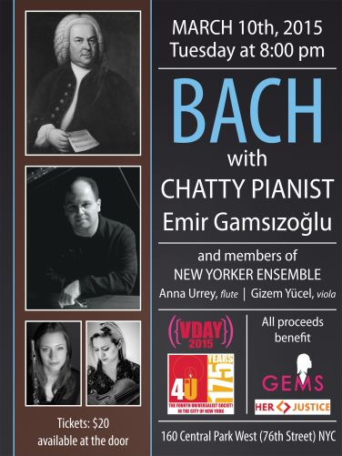2015-Bach with Chatty Pianist (Gizem Yücel & Anna Urrey)-Poster