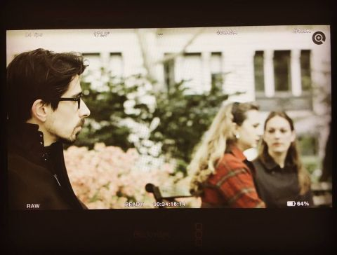 Chekhov in New York-Filming Lomov-1-Ege Maltepe, Cihangir Duman & Eva Cavadini