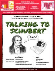 Ege Maltepe's Talking to Schubert at 4th U Society-Poster