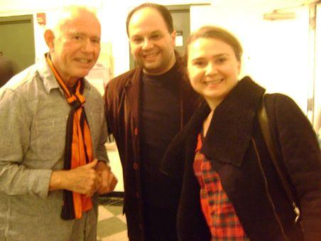 Emir & Ege Maltepe with David Del Tredici after a concert at Mannes School of Music