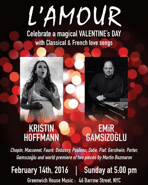 Valentine's-In rehearsal with Kristin Hoffmann-Poster