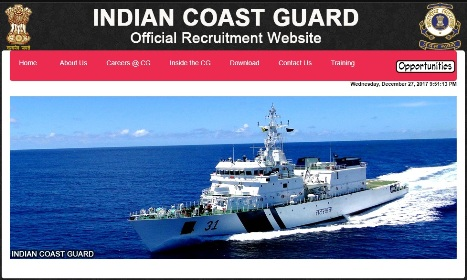 Indian Coast Guard 10+2 Navik GD recruitment 2018