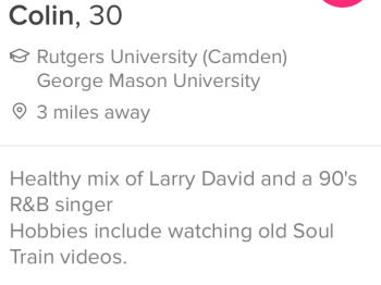 tinder bios example for guys