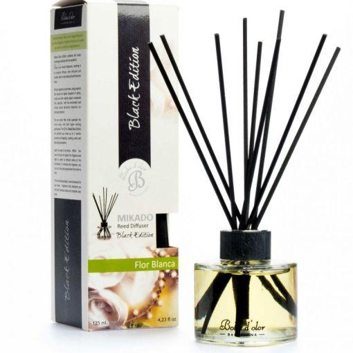Patyczki zapachowe – Flor Blanca – Białe kwiaty – Mikado Black Edition