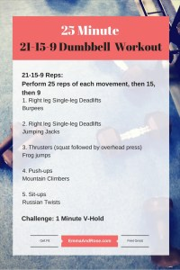 25 Minutes 21-15-9 Dumbbell Workout