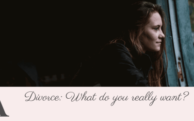 Divorce: What do you really want?