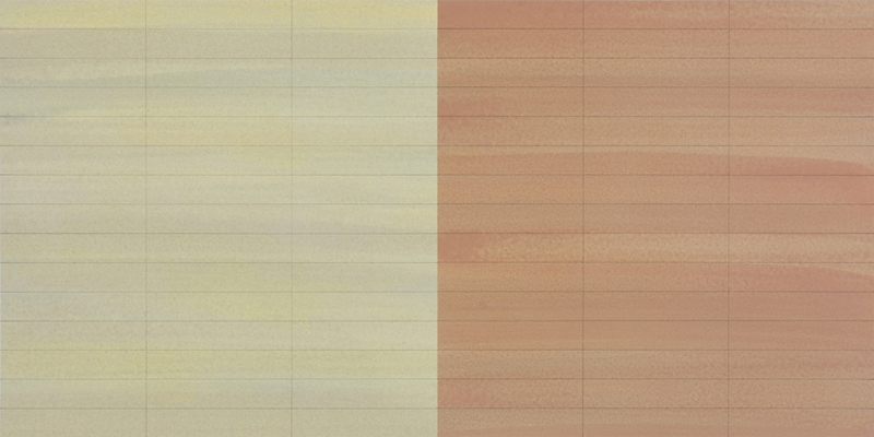 TREVOR SUTTON Homage to Paul Klee, 2015, oil and pencil on paper, 38 x 76cm