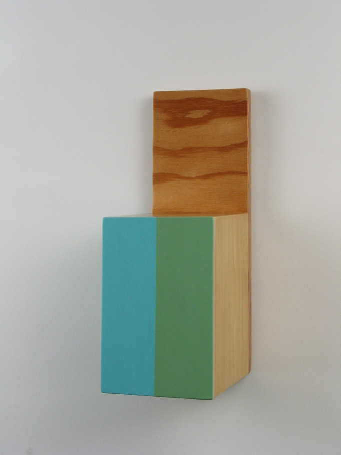 KEVEN FINKLEA Free Falling Divisions #16, 2011, acrylic on poplar and linden, 28 x 12 x 14cm