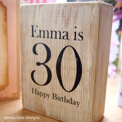 Wooden Birthday Keepsake