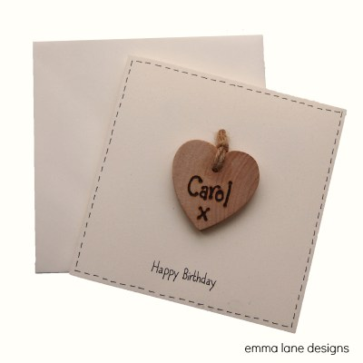 Personalised birthday keepsake card