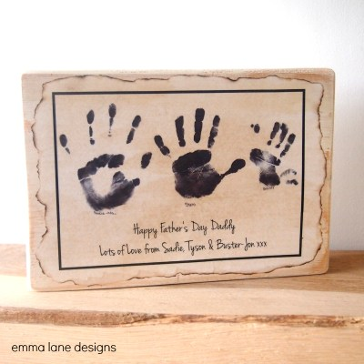 Handprint keepsake gift idea