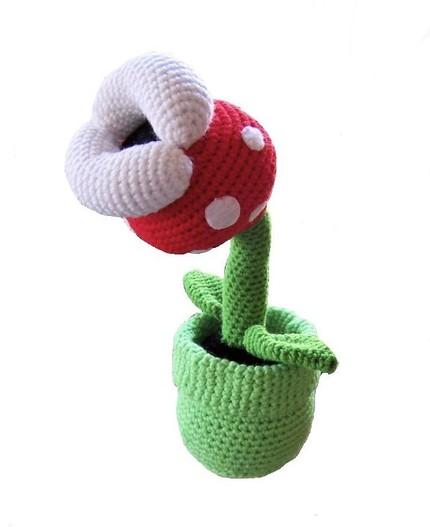 super mario amigurumi crochet plant