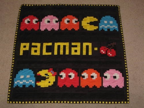 Pac-Man quilt retro video game sewing project
