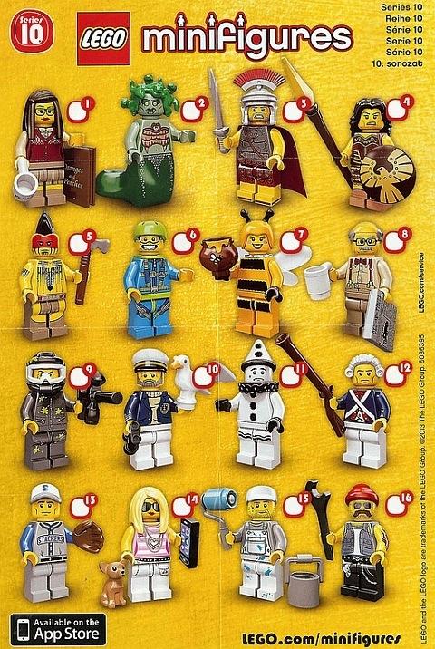 minifigures series 10 tick sheet