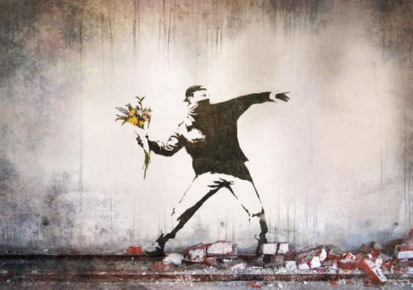 Banksy Flower Grenade
