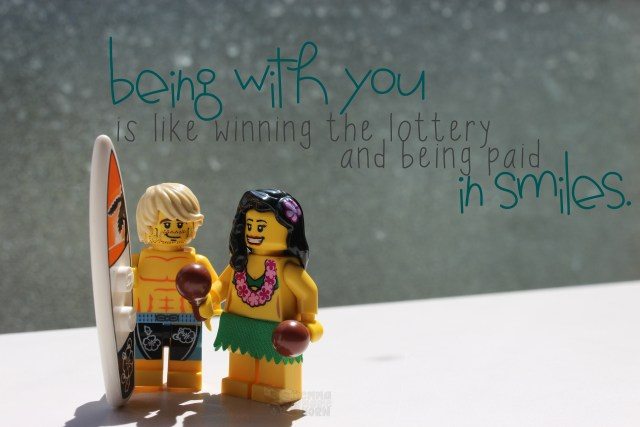 Lego Valentine's Day Being with you is like winning the lottery and being paid in smiles