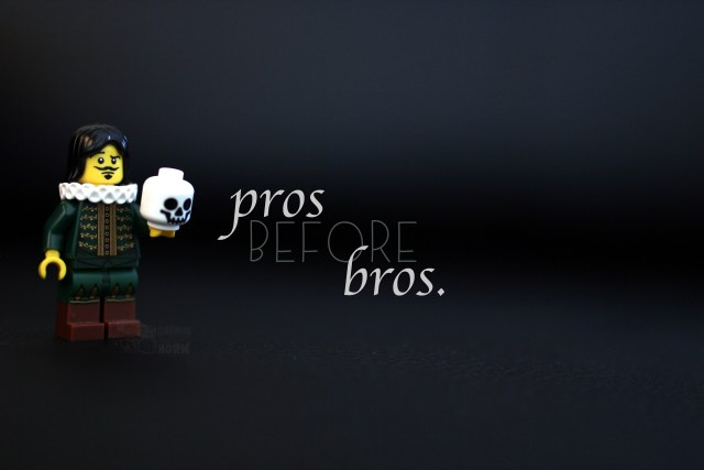 Lego Valentine's Day Pros before Bros