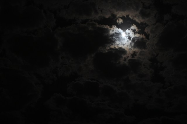 The moon in the night's sky