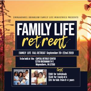 FAMILY LIFE RETREAT update