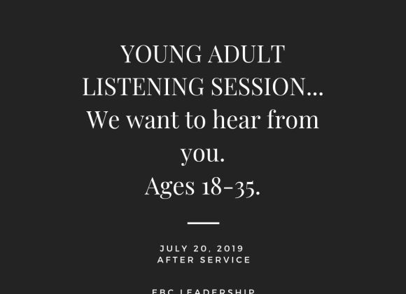 YOUNG ADULT LISTENING SESSION