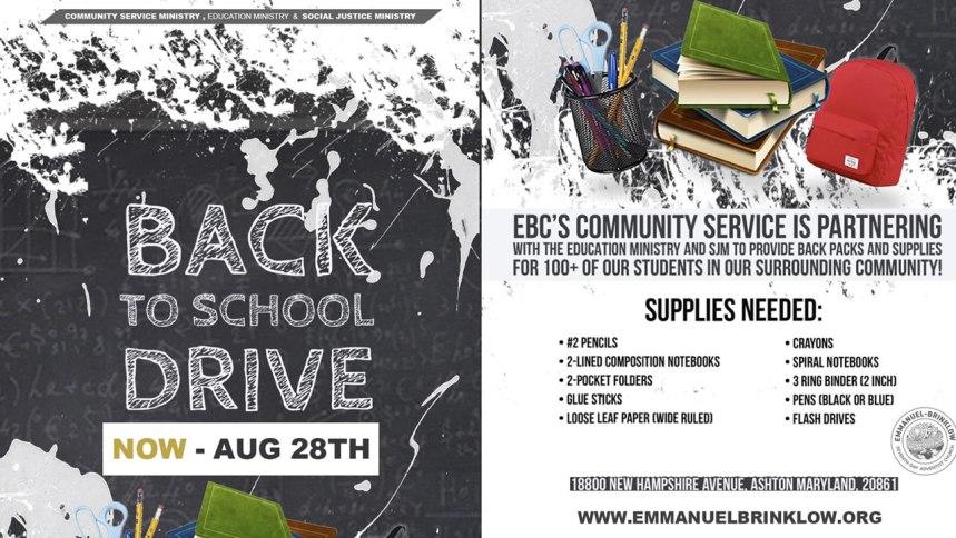BackPack Initiative!