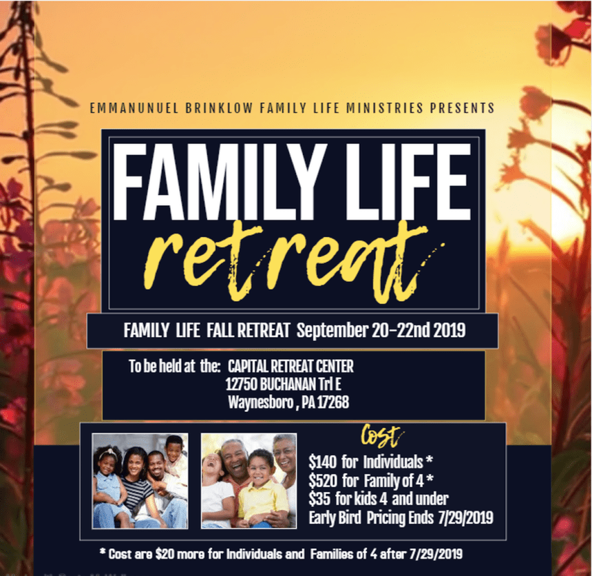 ATTENTION : FAMILY LIFE RETREAT