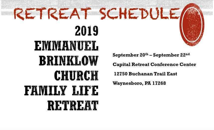 Family Life Retreat Schedule