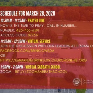 March 28 Virtual Service