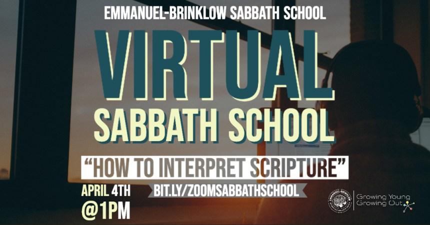 ADULT VIRTUAL SABBATH SCHOOL April 4