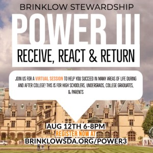 POWER 3 : RECEIVE, REACT, RETURN : BRINKLOW STEWARDSHIP