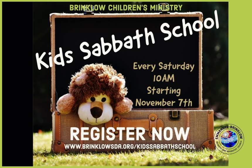 KIDS SABBATH SCHOOL IS BACK
