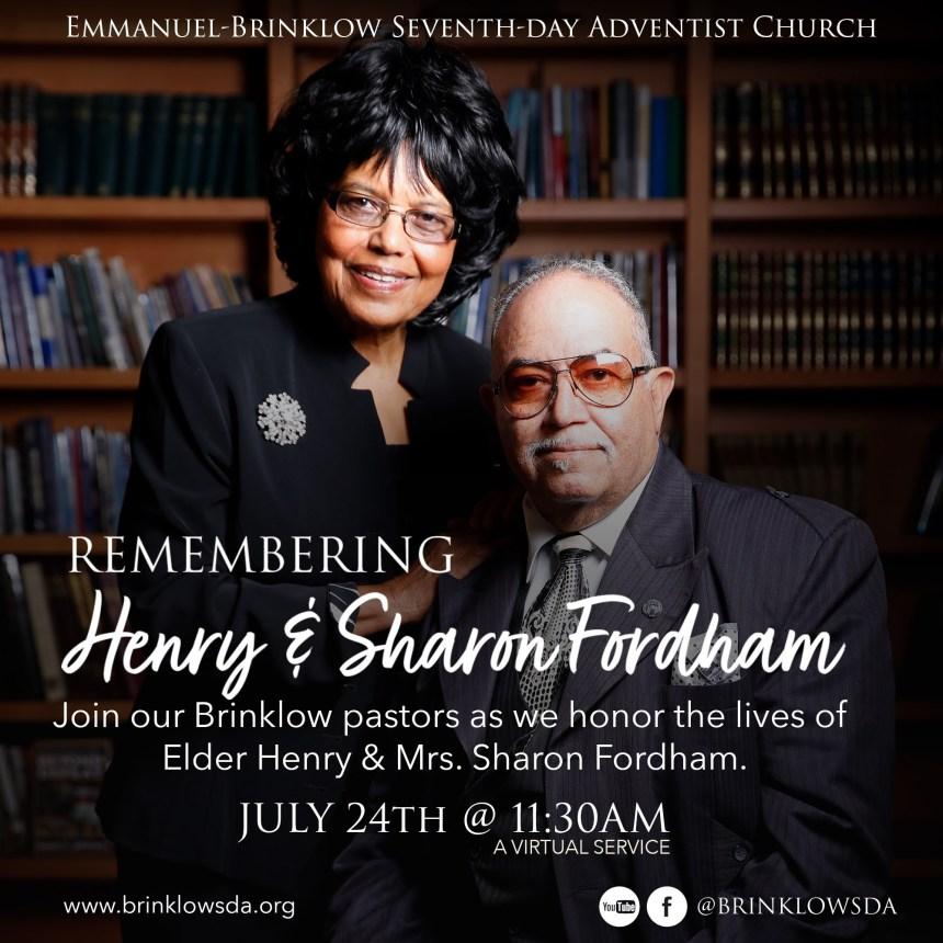 REMEMBERING ELDER HENRY & SHARON FORDHAM