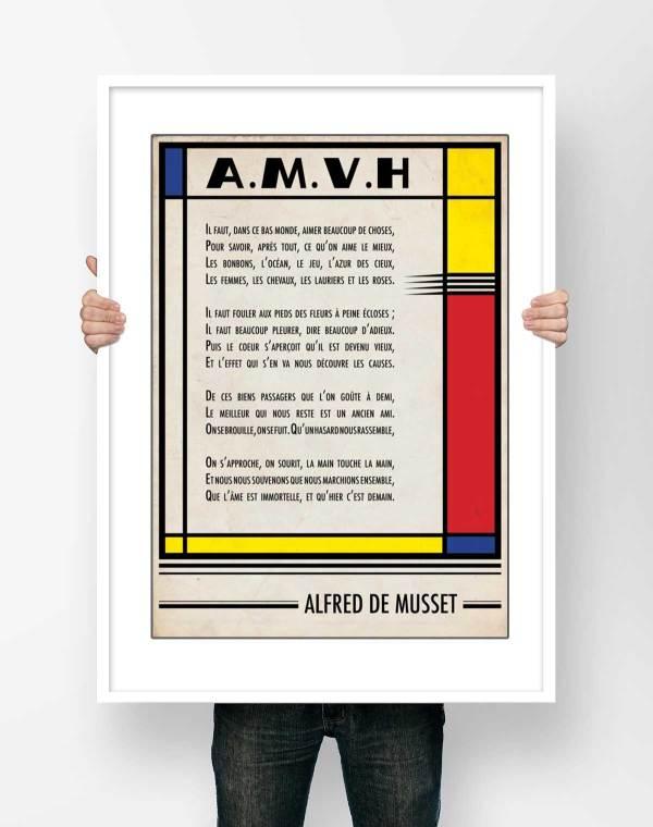 Alfred de Musset A.M.V.H Affiche