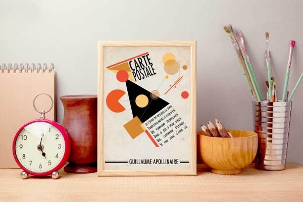 Affiche Guillaume Apollinaire Carte Postale
