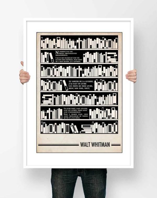 Affiche Poème Walt Whitman