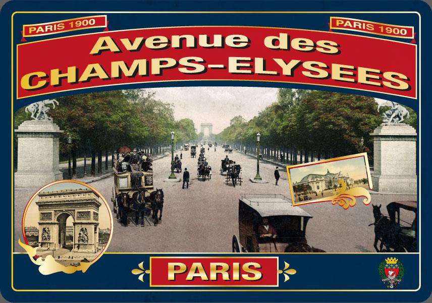 Carte Postale Paris Souvenir - Avenue des Champs-Elysées
