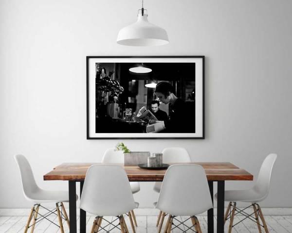 Café Bistrot Bar Canal Saint Martin Photo Noir et Blanc