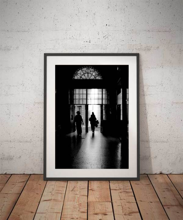 Photo Paris Passage Choiseul en Noir et Blanc