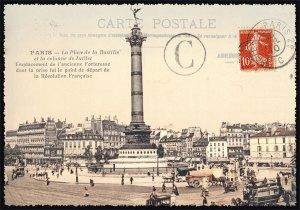 Cartes Postales Paris vintage - Place de la Bastille