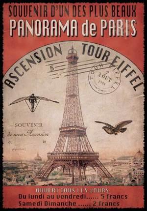 Cartes Postales Paris vintage - Ascension de la Tour Eiffel