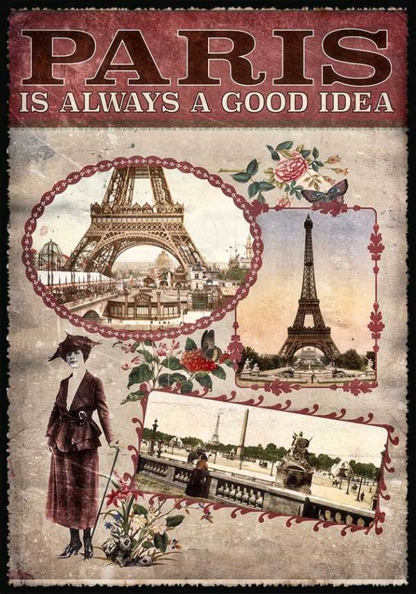 Cartes Postales Paris vintage - Paris is always a good idea