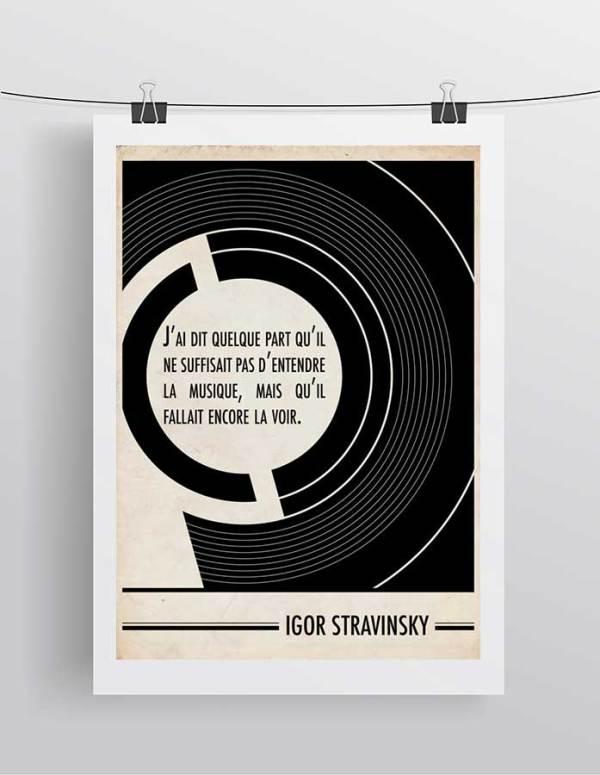 Affiche Citation Igor Stravinsky