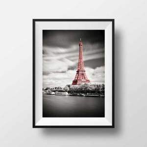 Photo Paris La Tour Eiffel en Rouge