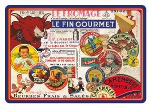 Carte Postale Paris Souvenir - Les Fromages CPD 036
