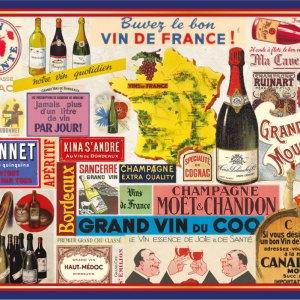 Carte Postale Paris Souvenir - Le vin CPD 037