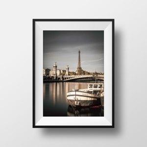 Tirage photo Paris Tour eiffel Pont Alexandre III en couleur