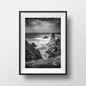 Photo Belle Ile en Mer Port Coton en Noir et Blanc